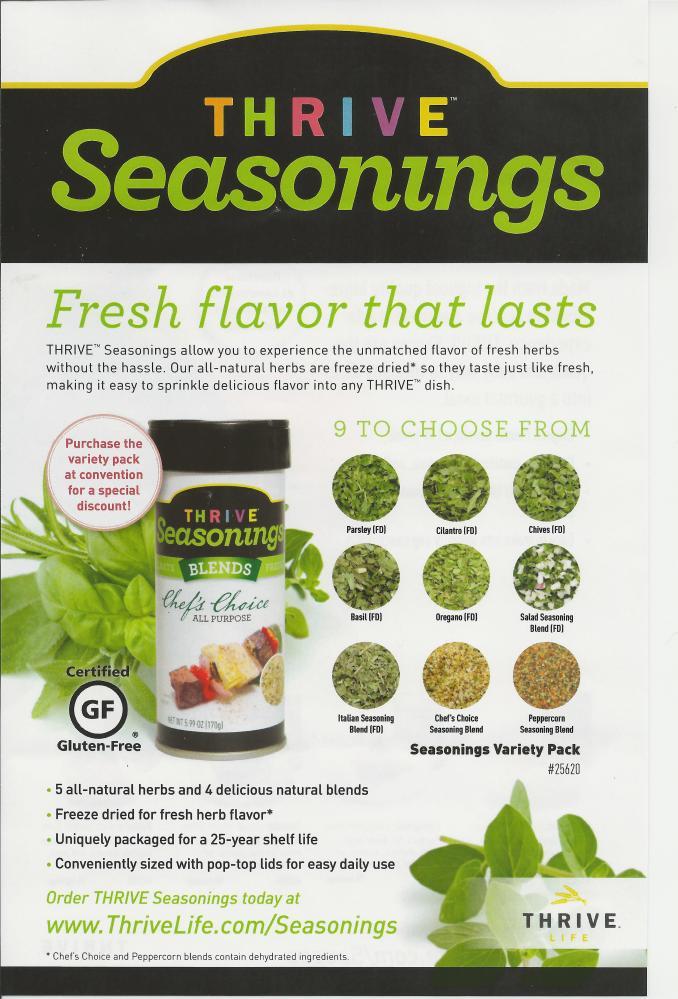 Thrive Life: New Thrive Seasonings!
